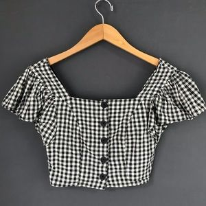 Urban Outfitters Gingham Crop Top